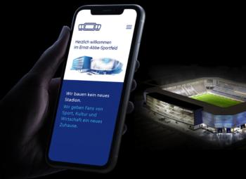 News 06/2021: Paradiesisches Webdesign – Neues Online-Zuhause für Fans des Ernst-Abbe-Sportfeldes